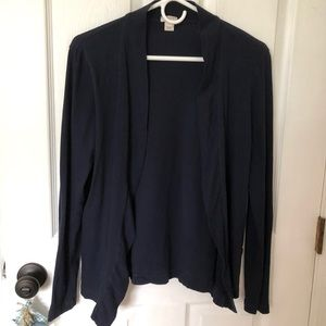 J.Crew lightweight navy cardigan